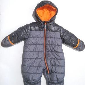 🔸LikeNew🔸 6-9M Carter's Snowsuit | Orange & Grey